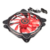 Game Max Eclipse Red Ring LED 12cm Cooling Fan With Hydraulic Bearings - Alternative image