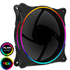 View more info on GameMax Mirage Rainbow RGB 120mm Fan 5V Addressable 3pin Header & 3pin M/B ...