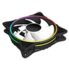 GameMax Mirage White Fins Rainbow RGB 5V Addressable 3pin Header & 3pin M/B - Alternative image