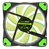 Game Max Mistral 32 x Green LED 12cm Cooling Fan - Alternative image