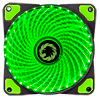 View more info on Game Max Mistral 32 x Green LED 12cm Cooling Fan...
