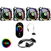 View more info on Game Max 4pin RGB Controller (SATA) with RF Touch Remote & 4 x Vortex RGB Fans...