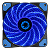 View more info on Game Max Storm Force 15 x Blue LED 12cm Cooling Fan With Hydraulic Bearings...