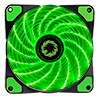 View more info on Game Max Storm Force 15 x Green LED 12cm Cooling Fan With Hydraulic Bearings ...