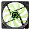 Game Max Sirocco 4 x Green LED 12cm Cooling Fan - Alternative image
