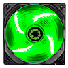 View more info on Game Max Sirocco 4 x Green LED 12cm Cooling Fan...