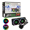 View more info on GameMax Iceberg 240mm ARGB Water Cooling System 3pin AURA Sync...