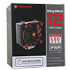 Thermaltake Riing Silent 12 Red CPU Cooler With Red 12cm Riing Fan - Alternative image