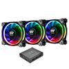 View more info on Thermaltake Riing Plus RGB 12cm PWM Fans Premium 3 Pack Software Control...