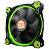 Thermaltake Riing14 Led Green 140mm Fan - Alternative image