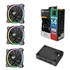View more info on Thermaltake Riing Fans 140mm Premium RGB 3 Pack...