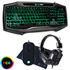 View more info on GameMax Raptor RGB Keyboard & Mouse Black Headset & Mouse Mat...