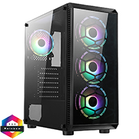 CiT Sahara F4 4x Rainbow Fans TG Front and Side Panel - Click below for large images