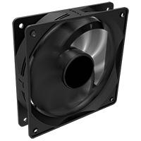 12cm Black Fan 4pin Molex Connector - Click below for large images