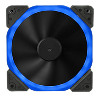 Unbranded Halo Dual Ring 22 LED 120mm Blue Fan - Click below for large images