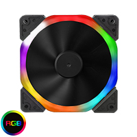 Unbranded Halo Dual Ring 18 LED 120mm Rainbow RGB Fan - Click below for large images