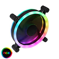 Raider Dual-Ring 16 LED 120mm Rainbow RGB Fan 5pin - Click below for large images