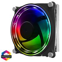 GameMax Gamma 300 Rainbow ARGB CPU Cooler Aura Sync 3 Pin - Click below for large images
