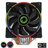 GameMax Gamma 500 Rainbow ARGB CPU Cooler Aura Sync - Click below for large images
