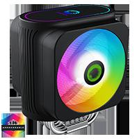 GameMax Gamma 600 Rainbow ARGB CPU Cooler Aura Sync 3 Pin - Click below for large images