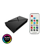 GameMax ARGB Fan Hub 3 Pin Aura Sync 3pin Power 6 port PWM RF Remote SATA - Click below for large images