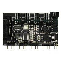 GameMax Mini ARGB Hub Case 3pin 4 Port - Click below for large images