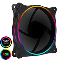 GameMax Mirage Rainbow RGB 120mm Fan 5V Addressable 3pin Header & 3pin M/B  - Click below for large images