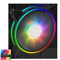 GameMax Razor Extreme ARGB 3pin Fan Retail Box - Click below for large images