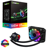 GameMax Ice Chill 120mm ARGB AIO Water Cooler - Click below for large images