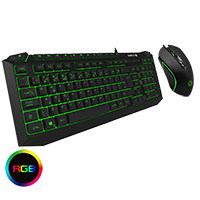 GameMax Pulse Kit 7 Colour RGB Keyboard with Pulsing Mouse - Click below for large images