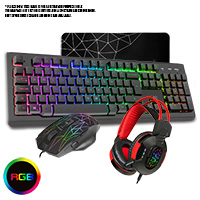 CiT Rampage Keyboard Mouse & Headset Combo - Click below for large images