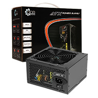 ACE 650W BR Black PSU with 12cm Black Fan & PFC - Click below for large images