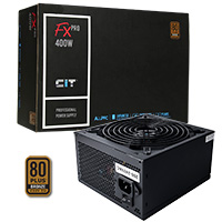 CiT 400W FX Pro 14cm Fan APFC 80 Plus - Click below for large images