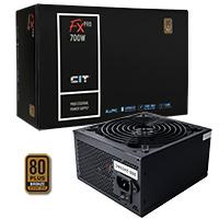 CiT 700W FX Pro 14cm Fan APFC 80 Plus - Click below for large images
