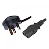 View more info on Generic 1.8M ASTA Certified Kettle Lead Power Mains Cable H05VV-F 5A Fuse OD 7.0mm...