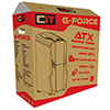 CiT G Force Black Mid-Tower PC Gaming Case with 2 x RGB Front 1 x Rear Fans & Remote - Alternative image