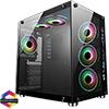 View more info on CiT Jupiter Glass Gaming Case 6x ARGB Fans Hub...