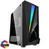 View more info on CiT Mars ARGB Black Gaming Case Glass Window USB3.0 HD Audio EPE 4 Fans MB Sync...