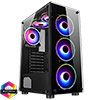 View more info on CiT Mirage F6 6x RGB Rainbow Fans TG Front and Side Panel...