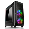 View more info on CiT Prism Black RGB Mid-Tower Case With 2 x RGB Front Fans 1 x USB 3.0 & Side Window...