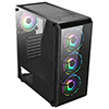 CiT Sahara F4 4x Rainbow Fans TG Front and Side Panel - Alternative image