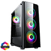 View more info on CiT Tornado ATX Case 4x ARGB Fans TG Front and Side Panel EPE...