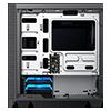 GameMax Aero Mini ARGB Case 4 x ARGB Fans Black With White Internals - Alternative image