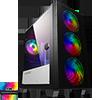 View more info on GameMax Aero Mini ARGB Case 4 x ARGB Fans Black With White Internals...