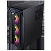GameMax Brufen C1 ARGB Case 4 x ARGB Fans Turbo MB Cooling Fan - Alternative image