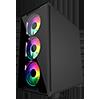 GameMax Commando TG MATX Black 1x Side Window 4 x ARGB 1x ARGB Hub Fan - Alternative image