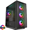 View more info on GameMax Commando TG MATX Black 1x Side Window 4 x ARGB 1x ARGB Hub Fan...