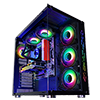 GameMax DS360 Glass Gaming Case 6x Infinity ARGB Fans Hub - Alternative image
