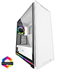 View more info on GameMax Ice ARGB Sync White Case 2xLED Strips 3xFans 3pin Hub TG Window...