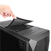 GameMax Kamikaze PRO ARGB 3pin Fans x4 TG Side Window Fan Control - Alternative image
